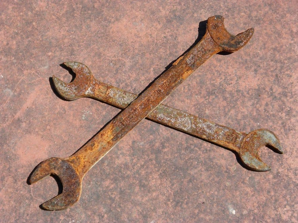 rusty wrenches
